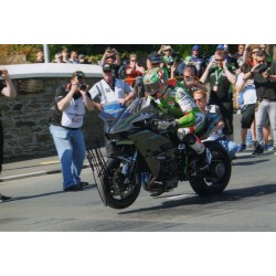 James Hillier Kawasaki IOM TT genuine authentic autograph signed photo
