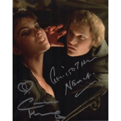 Caroline Munro Christopher Neame Hammer signed autograph photo