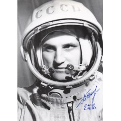 Boris Volynov Cosmonaut soyuz genuine authentic signed photo