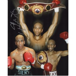 Paul Silky Jones Boxing signed original genuine autograph authentic photo