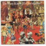 """Peter Blake Midge Ure Do they Know its Christmas signature signed 7"""" Vinyl"""