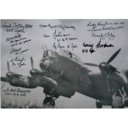 ww2 Lancaster multi veteran 617sqn etc signed signed autograph photo