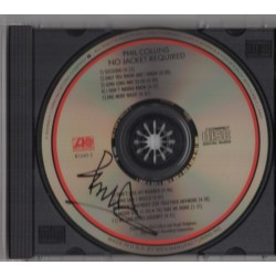 Phil Collins No Jacket music signed genuine signature autograph CD COA
