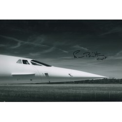 Norman Britton Concorde pilot authentic signed autograph photo UACC