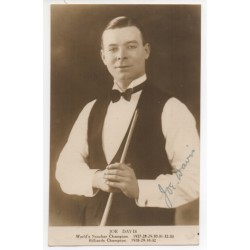 Joe Davis Snooker Billiards authentic signed autograph postcard photo COA