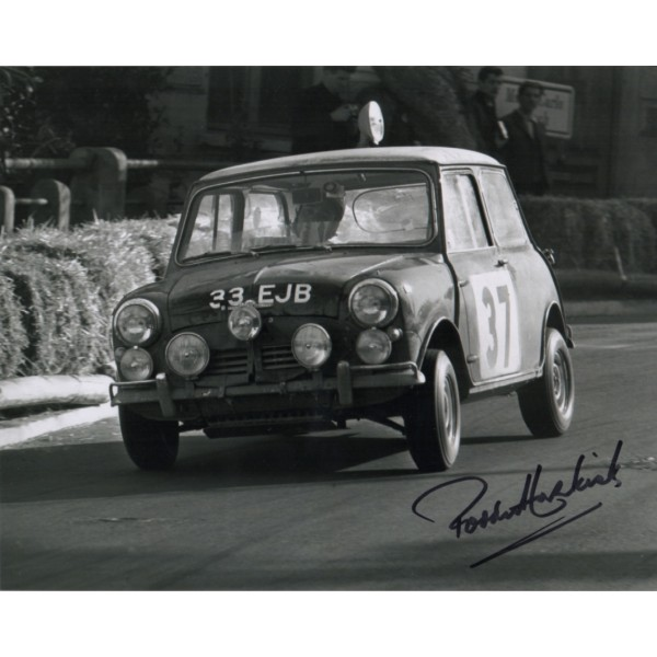 Paddy Hopkirk Rally Monte Carlo authentic genuine signed autograph photo COA