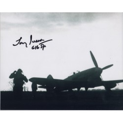 WW2 BOB Tony Iverson DFC signed authentic autograph photo 2