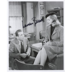 Lauren Bacall genuine signed authentic signature photo COA UACC AFTAL