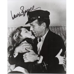 Lauren Bacall genuine signed authentic signature photo COA UACC 2