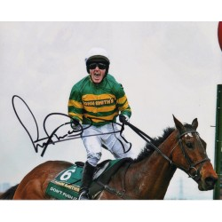 A P McCoy Horse racing authentic genuine signed colour photo