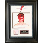 David Bowie Ziggy Stardust authentic signed genuine signature photo display