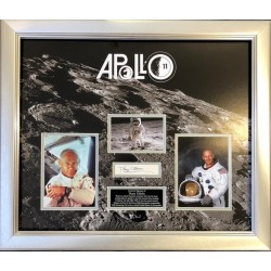 Buzz Aldrin Apollo 11 authentic genuine signature display