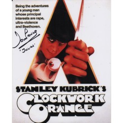 Dave Prowse Clockwork Orange Julian signed genuine signature photo