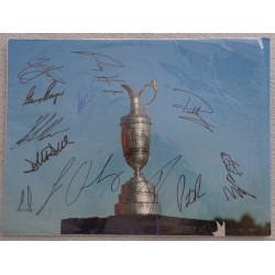 Gary Player Ernie Els Cink Stenson etc genuine authentic signed autograph photo
