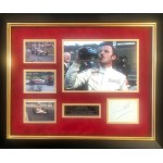 Graham Hill F1 Lotus authentic signed genuine signature photo display