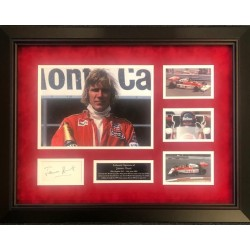 James Hunt F1 McLaren authentic signed genuine signature photo display