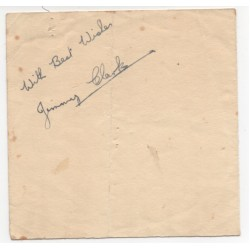 Jim Clark authentic genuine signed autograph album page
