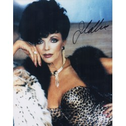 Joan Collins Dynasty etc genuine signed authentic signature photo