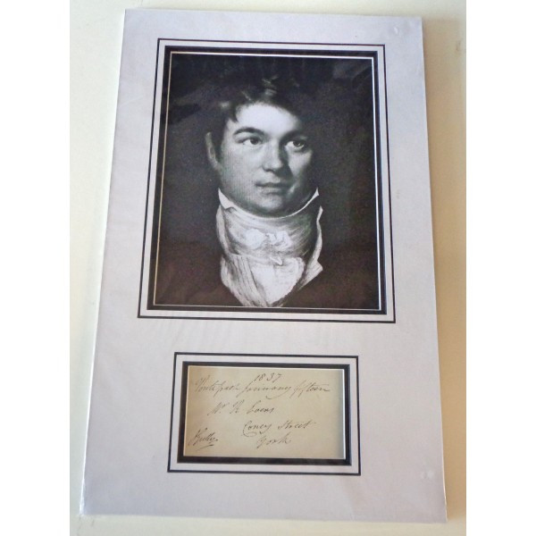 John Gully Boxing MP signed authentic genuine signature autograph display