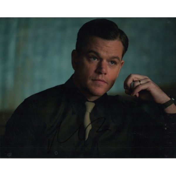 Matt Damon Monuments Men genuine authentic autograph signed photo