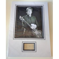 Paul McCartney Beatles signed authentic genuine signature autograph display