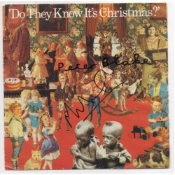 "Peter Blake Midge Ure Do they Know its Christmas signature signed 7"" Vinyl"