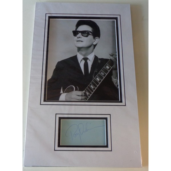 Roy Orbison Music genuine authentic signed autograph display