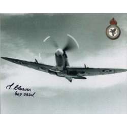 WW2 Reg Cleaver Spitfire signed authentic autograph photo