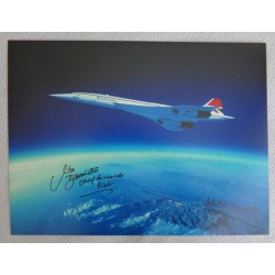 Concorde Mike Bannister Adrian Meredith authentic signed autograph photo