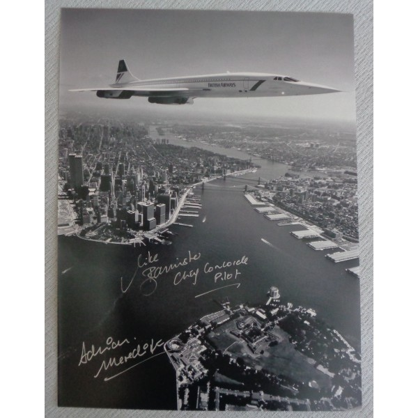 Concorde Mike Bannister Adrian Meredith authentic genuine signed autograph photo