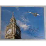 Mike Bannister Adrian Meredith Concorde authentic signed autograph photo