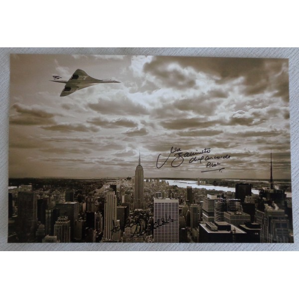 Mike Bannister Adrian Meredith Concorde authentic genuine signed autograph photo 6