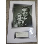 Princess Grace Kelly Monaco authentic signed genuine autograph photo display