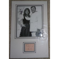 Richard Burton Ingrid Pitt signed genuine signature autograph display AFTAL