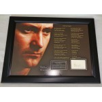 Phil Collins Another Day in Paradise music authentic signed genuine signature display