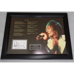 Rod Stewart Reason to Believe music authentic signed genuine signature display