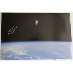 Bruce McCandless Space Walk authentic signed Genuine signature large photo