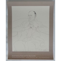 David Hockney John Gielgud original authentic signed genuine litho poster