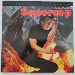 "Jackie Chan Supercop genuine authentic autograph signature signed 12"" laserdisc"