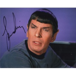 Leonard Nimoy Star Trek authentic genuine signature signed photo COA AFTAL