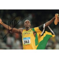 Usain Bolt Olympics Athletics authentic genuine signed autograph photo COA