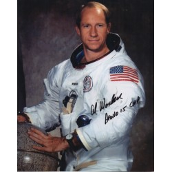 Al Worden WSS Apollo 15 genuine signed autograph photo COA AFTAL