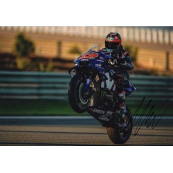 Maverick Vinales Moto GP Yamaha signed genuine signature authentic photo COA