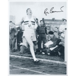Roger Bannister 4 minute mile authentic genuine autograph signed photo.