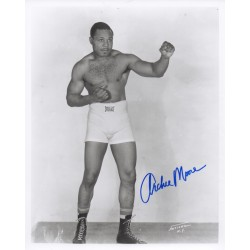 Archie Moore Boxing genuine authentic signed autograph signature photo
