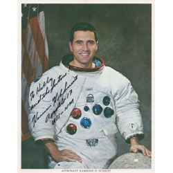 Apollo 17 Harrison Schmitt authentic signed genuine autograph signature litho