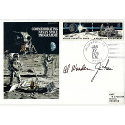 Al Worden and Jim Irwin Signed Apollo 15 Postal Cover