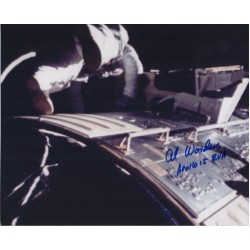 Al Worden Apollo 15 space walk authentic signed photo COA UACC