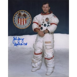 Apollo 16 John Young authentic signed genuine autograph signature photo