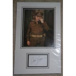 Arthur Lowe Dads Army authentic signed genuine autograph photo display